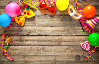 Colorful birthday or carnival background